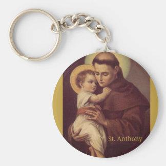 Llavero St Anthony del bebé Jesús de Padua