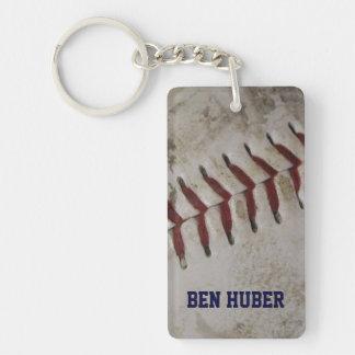 Llavero sucio personalizado del béisbol del Grunge
