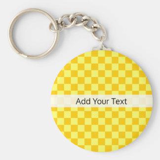 Llavero Tablero de damas amarillo de la combinación por