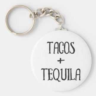 Llavero Tacos y chica marchosa del Tequila