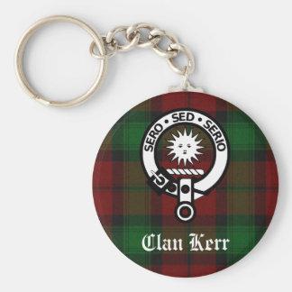 Llavero Tartán de la insignia del escudo de Kerr del clan