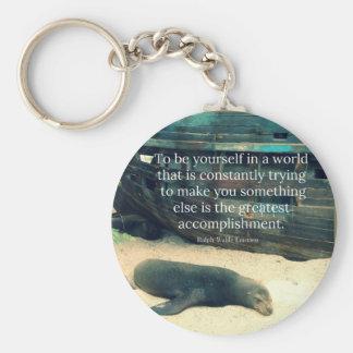 Llavero Tema inspirador de la playa de la cita de la vida