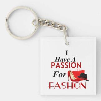 Llavero Tengo una pasión para el doble de la moda eché a