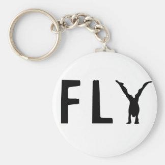 Llavero Texto divertido de la mosca y diseño humano