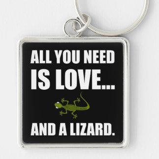 Llavero Todo lo que usted necesita es amor y un lagarto