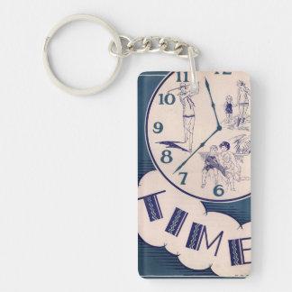 Llavero Tome el retiro del vintage del tiempo