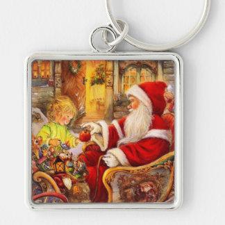 Llavero Trineo de Santa - ilustracion de Papá Noel