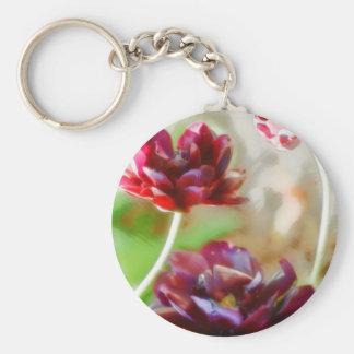 Llavero Trío floreciente del tulipán del Peony oscuro de