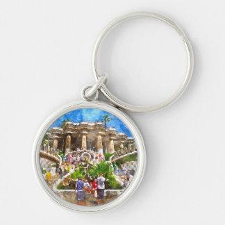 Llavero Turistas en Parc Guell en Barcelona España