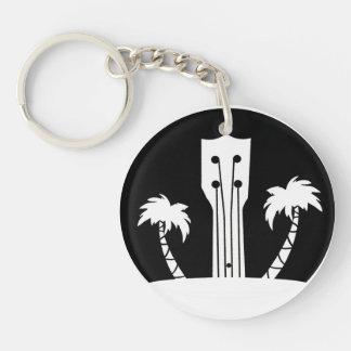 Llavero Ukulele y palmeras