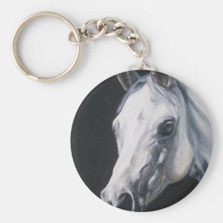 Llavero Un caballo blanco