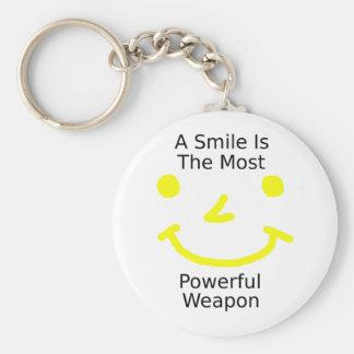 Llavero Una sonrisa es el arma más potente (la cara