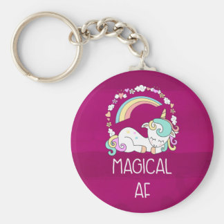Llavero Unicornio chistoso AF mágico en modelo rojo oscuro