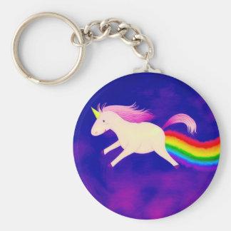 Llavero Unicornio divertido del vuelo Farting un arco iris