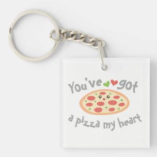 Llavero Usted tiene una pizza mi retruécano divertido