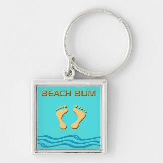 Llavero Vago de la playa de la diversión con los pies en