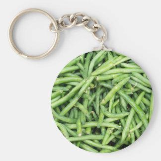 Llavero Veggie verde orgánico Vegitarian de las habas