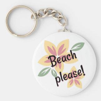 Llavero Verano floral - playa por favor