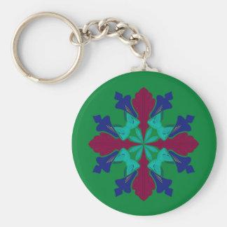 Llavero Verde de la mandala del ethno de los elementos del