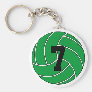 Llavero verde del voleibol (llavero)