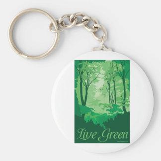 Llavero Verde vivo - árbol Hugger