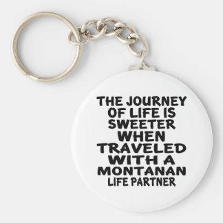 Llavero Viajado con un socio montanense de la vida