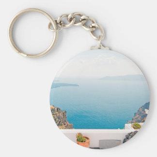 Llavero Visión en la isla de Santorini
