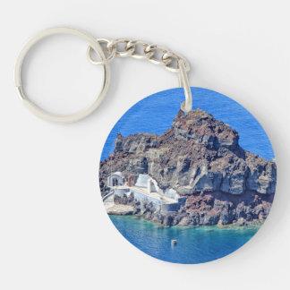 Llavero Vista panorámica de Santorini
