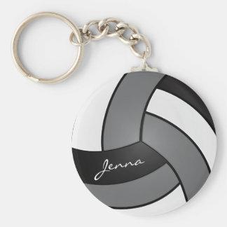 Llavero Voleibol gris, blanco y negro