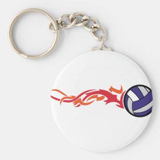 Llavero Voleibol llameante