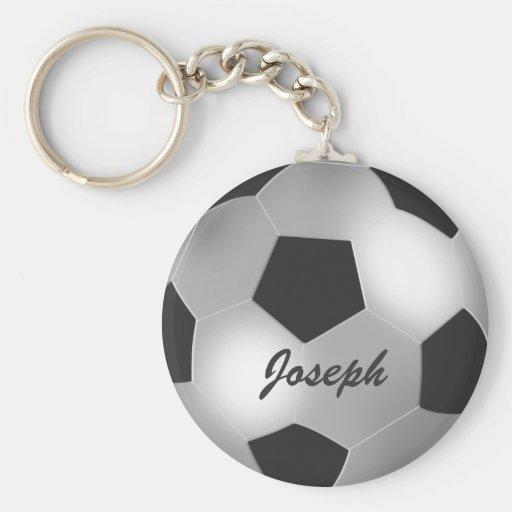 Llaveros de plata adaptables del balón de fútbol