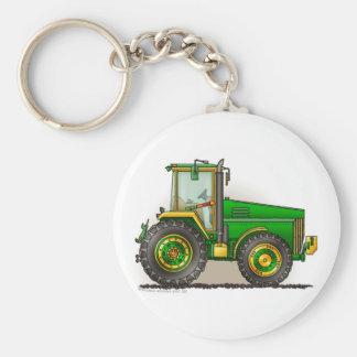 Llaveros grandes verdes del tractor