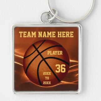 Llaveros personalizados del baloncesto con el