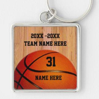Llaveros personalizados del baloncesto para los