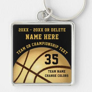 Llaveros personalizados del baloncesto su color,