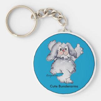 Llaveros personalizados lindos del conejo del dibu