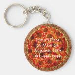 Llaveros promocionales de encargo de la pizzería