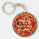 Llaveros promocionales de encargo de la pizzería d
