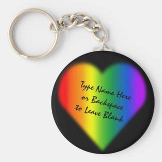 Llaveros y regalos del amor del arco iris del llav