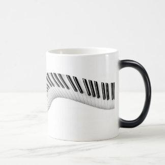 Llaves abstractas del piano Morphing la taza