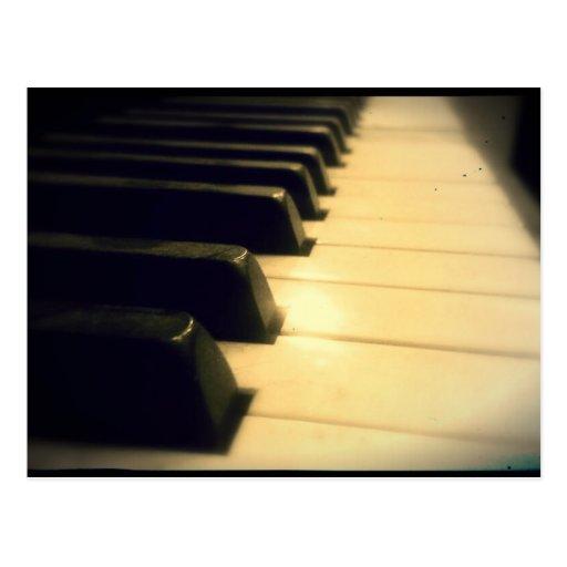 Llaves antiguas del piano de jugador postales