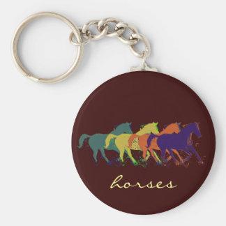 llaves de los caballos llavero redondo tipo chapa