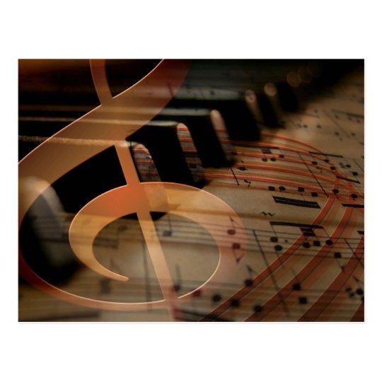 Llaves del piano con el Clef Postal