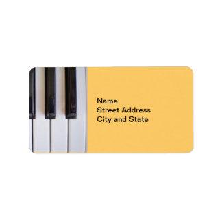 Llaves del piano etiquetas de dirección
