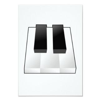 Llaves del piano invitación personalizada