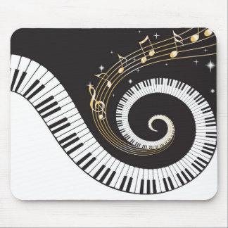 Llaves del piano que remolinan alfombrilla de ratón