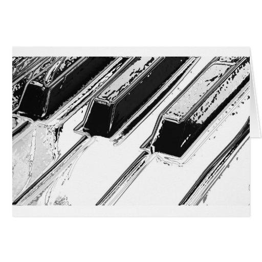 Llaves del piano tarjetón