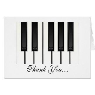 Llaves del piano tarjeta de felicitación