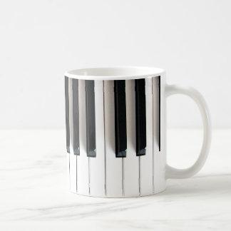 llaves del piano taza de café