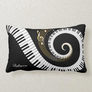 Llaves del piano y notas personalizadas de la cojín lumbar